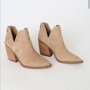 NEW Steve Madden Tan Suede Alyse Booties